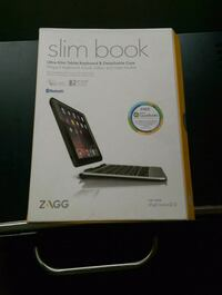 Slim book wireless keyboard and case for iPad mini