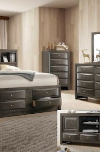 [CLEARANCE] Emily Gray Chest | B4270 Regular price; $279.00 (Bedroom Set is available) Houston, 77036