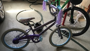 Girls purple bike!