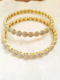Silver and gold color bangles  Bristow