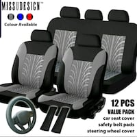 Car Seat Covers - 12 Piece - Brand New