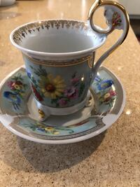 Leander Czech porcelain footed cup and saucer Arlington, 22209