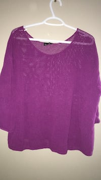 women's purple scoop-neck shirt Calgary, T3K 0J8