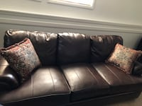 Beautiful Brown Leather 3-seat sofa Fort Washington