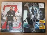 Two DVDs.. World War Z & the Underworld Trilogy  Essex, 21221