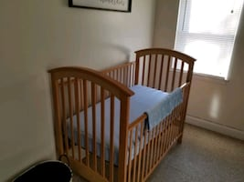 Crib, bassinet, rocker