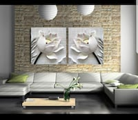 New 3d effect wall canvas 2x24x24
