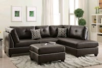black leather sectional sofa Yonkers, 10705