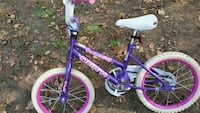 purple, white, and pink bicycle