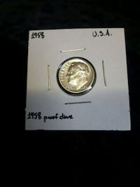 1958 Proof Dime USA Sherwood Park, T8H 2G3
