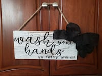 Wash Your Hands, Ya Filthy Animal rustic sign
