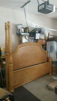 brown wooden bed headboard and footboard Lawrenceville, 30043