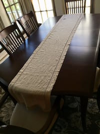 Used Pottery Barn Beige Linen Table Runner For Sale In New