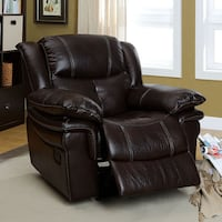 black leather recliner sofa chair Modesto