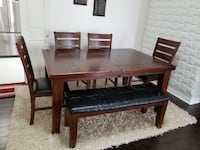 Dinning Table Set extendable 66 to 78 inches Toronto