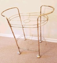 Midcentury Bar Cart, Hollywood Regency Faux-Bamboo Rockville, 20854