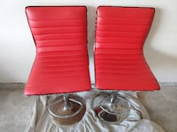 Retro red bar stools / barber chairs Woodbridge