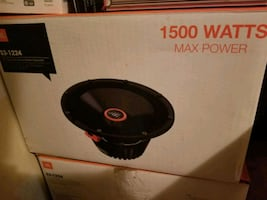 Two 12 inch JBL subwoofers # S3-1224 in ported box