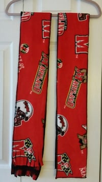 Maryland Terps Football Scarf Hat Basketball Fan Red Clothing Winter