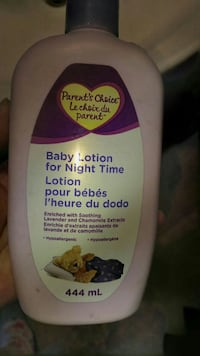 Baby lotion for night time