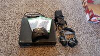 Xbox one with two games and a headset