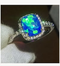 STAINLESS STEEL OPAL RING