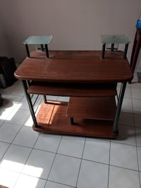brown wooden desk with hutch Guelph, N1G