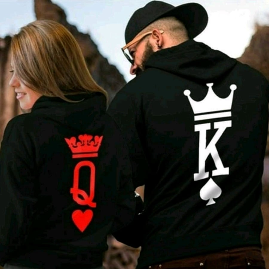 All New his and hers king and queen hoodies