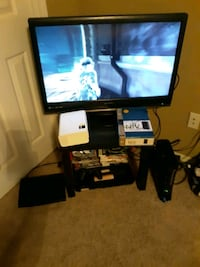 Pack Deal. . .TV, ps3, xbox, games, cords, controllers,  projecter