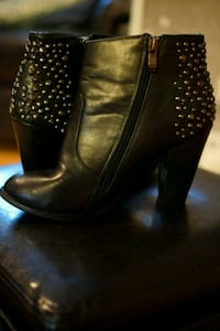 Size 7 studded high heels booties