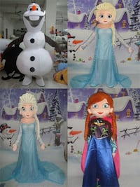 RENTAL OLAF, ALSA, ANNA FROZEN ADULT MASCOT COSTUME FOR PARTIES AND EVENTS Los Angeles
