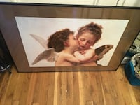 Angels White and brown art poster   with frame New York, 11223