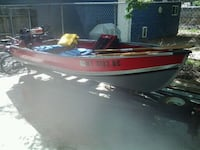 12ft alum boat with trailer and 2motors