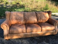 Leather couch chair & ottoman Westminster, 21158