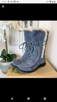 Earth Origins waterproof suede gray boots size 7.5  Alexandria, 22304