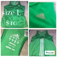 Green and white adidas tank Myrtle Beach, 29577