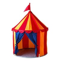 children's red-orange-and-blue castle tent Woodbridge