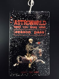 Travis Scott Astroworld Season Pass Sterling, 20164