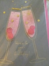 Champagne birthday card Metairie