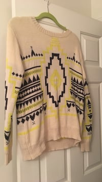 Forever 21 Neon Tribal Sweater Chantilly, 20152