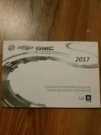 2017 GM canadian limited warranty book Mississauga, L5R 3A5