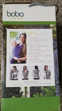 Baby wrap: boba baby wrap 0-36 months gray color