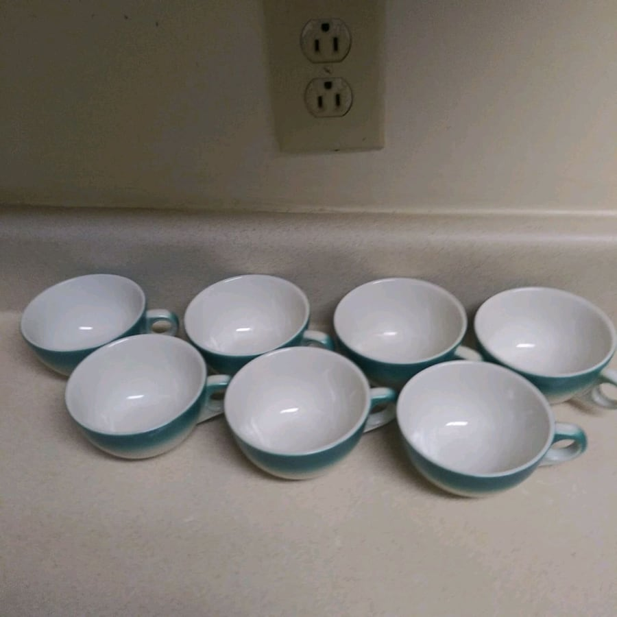 Seven cup antique set