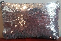 GLITZY BRASSY & SILVER MERMAID CARRY-ALL/MAKEUP BAG!  Austin