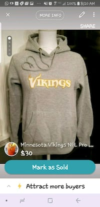 NFL Vikings Sweatshirt S/M Fairfax, 22032