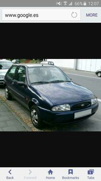 Blue ford 5 puertas hatchback captura de pantalla