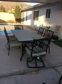 Patio table and six chairs Las Vegas, 89110