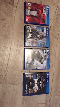 three assorted PS4 game cases Charlotte, 28205
