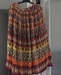 Lined maxi skirt