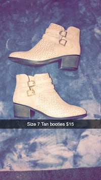 Tan booties Size 7 Mission, 57555